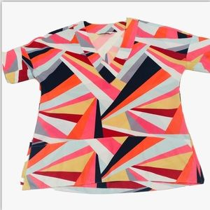 CROSBY by Mollie Burch Geometric Print Blouse